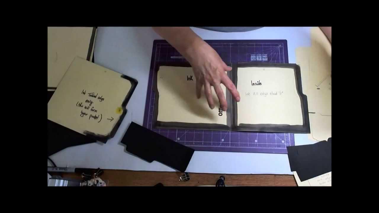 Making A File Folder Book Part 1 Youtube