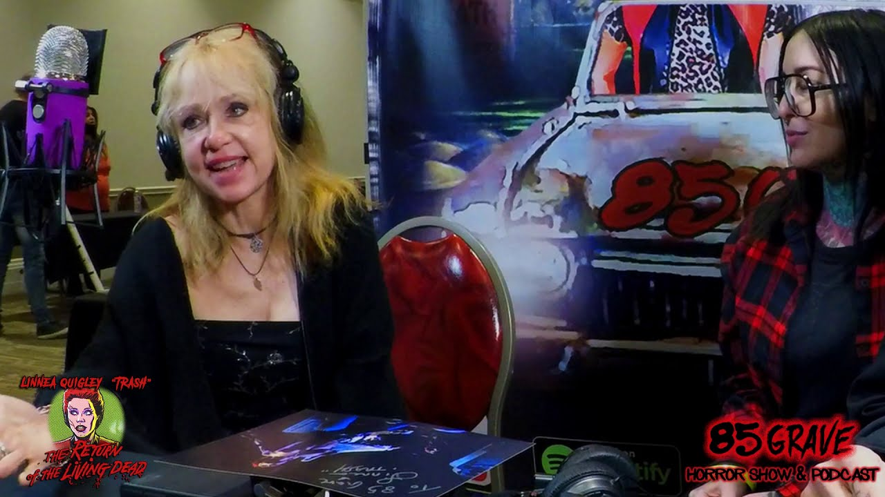Live Interview With Linnea Quigley, Return of the Living Dead Star. 85 Grave Horror Show & Podcast.