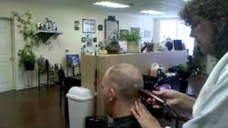The Edge Barber Shop Straight Razor Head Shave part 1