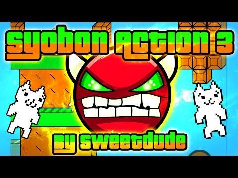 Geometry Dash - Syobon Action 3 100% GAMEPLAY Online (Sweetdude) HARD DEMON