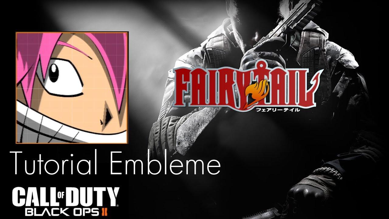 Black Ops II Embleme Tutorial : Natsu Dragneel [Fairy Tail] MANGA