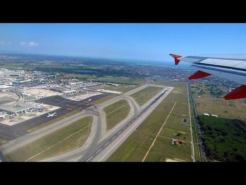 Roma (rome) airport Fiumicino-Thessaloniki airport (aereoporto salonicco) SKG Griechenland.