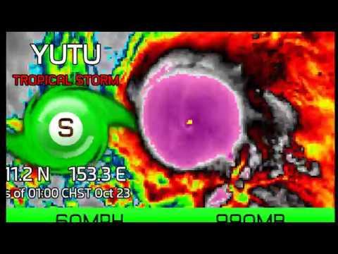 Update on Tropical Storm Yutu - 1am CHST Oct 23, 2018