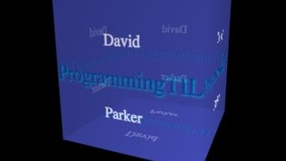 How to draw text as a texture in WebGL - ProgrammingTIL #151 WebGL tutorial video screencast 0094 by David Parker