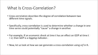 Cross Correlation (ccf) Analysis in R