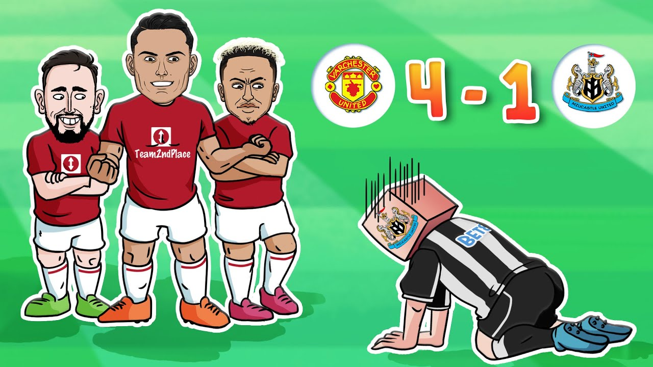 Download Ronaldo Strikes As United Hit Newcastle For Four | Man Utd 4-1 Newcastle All Goals ⚽ 442oons Parody