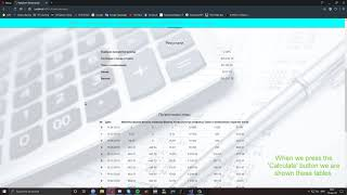 Finance Calculator [ASP.NET (C#)]