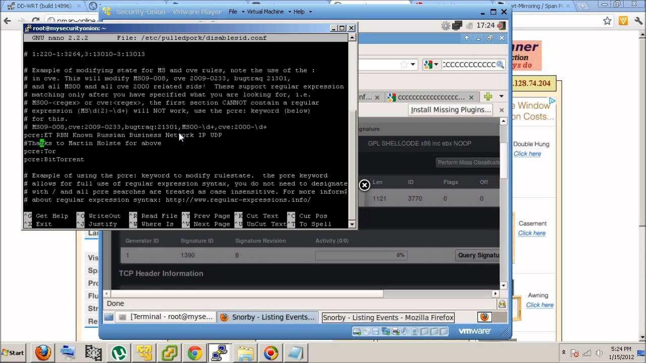 Basic Setup of Security-Onion Snort, Snorby, Barnyard, PulledPork,  Daemonlogger
