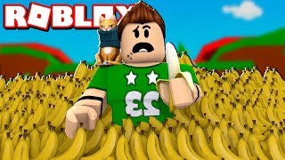 NOS COMEMOS 9.999.999 BANANAS en ROBLOX | Roblox Banana Simulator