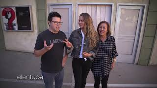 Average Andy, Chrissy Teigen and her Mom Go through a Haunted House .