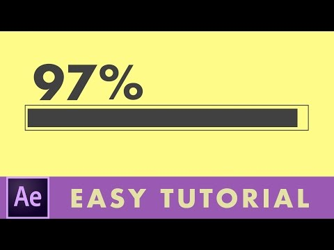 How To Make A Progress Bar In After Effects | Easy Tutorial