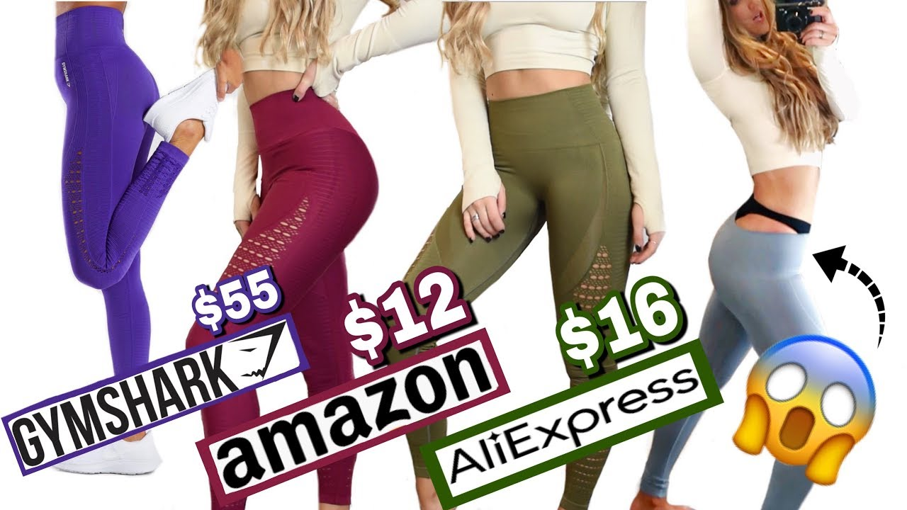 aa92f40d79885c I Bought ALL the Gymshark Seamless Legging DUPES! - YouTube