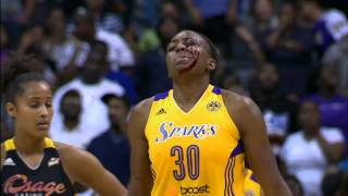 Candace Parker Recounts the Parker-Ogwumike Head Bump
