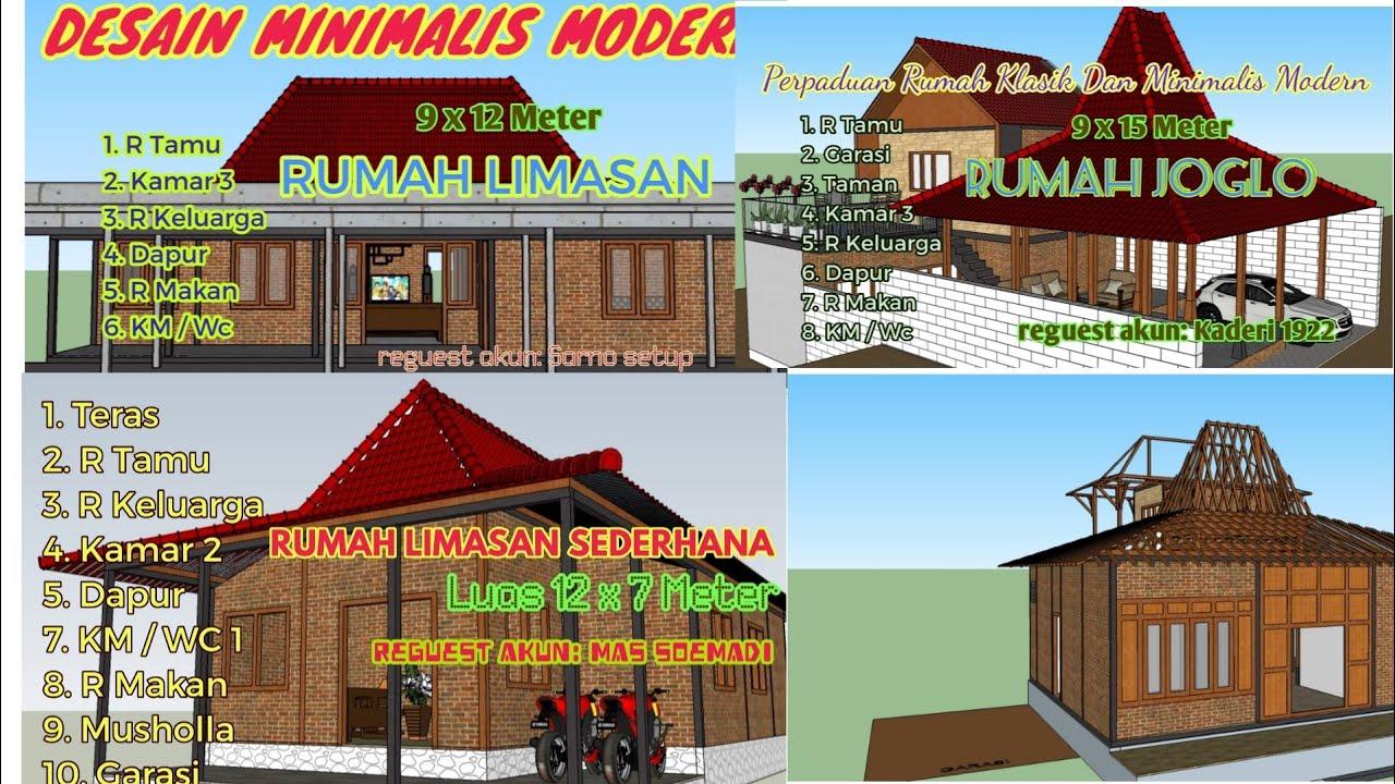 Kumpulan Desain Rumah Joglo Dan Limasan Denah Ruang Lengkap Dan Ukuran Detail Youtube