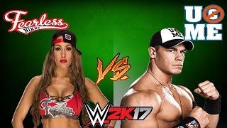 WWE 2K17 - GIRLFRIEND VS BOYFRIEND | Nikki Bella Vs John Cena