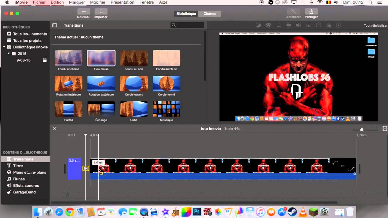 tuto mac comment faire un montage video sur imovie youtube. Black Bedroom Furniture Sets. Home Design Ideas