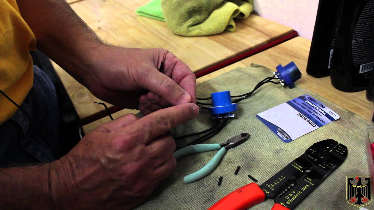 maxresdefault hb5 9007 headlight connector replacement youtube GM Headlight Wiring Harness at gsmportal.co