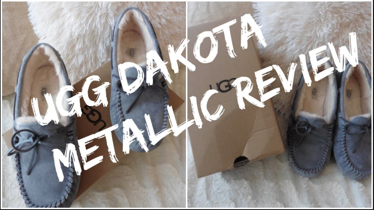 a24b1cc2be2 Ugg Dakota Metallic Moccasin Slippers Review & I Got Scammed on Ebay!