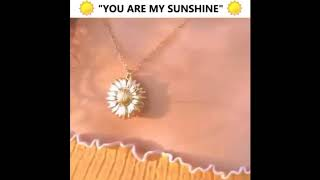 You Are My Sunshine Sun Flower Necklace