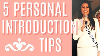 5 things in every winning personal introduction | Dani Walker