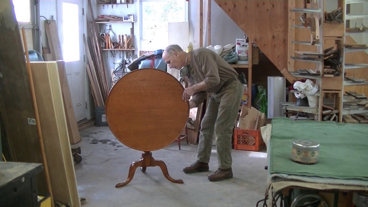 Exceptionnel Restoring An Antique Tilt Top Table   Thomas Johnson Antique Furniture  Restoration   YouTube