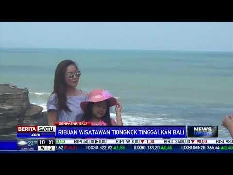 Ribuan Wisatawan Tiongkok Mulai Tinggalkan Bali