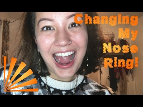 How I Change My Nose Ring Stud To Hoop Youtube