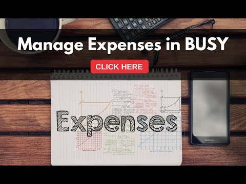 Managing Expenses in BUSY (Hindi)