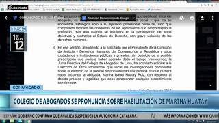 Comunicado CAL Martha Huatay