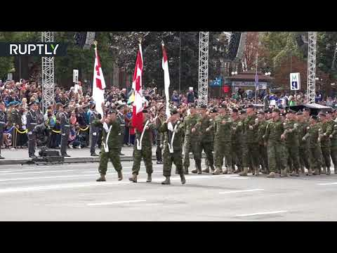 Foreign troops march in Kiev to mark Ukraine's independence