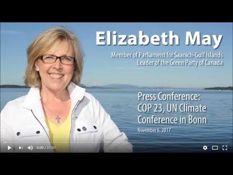 Press Conference - COP 23, UN Climate Conference in Bonn