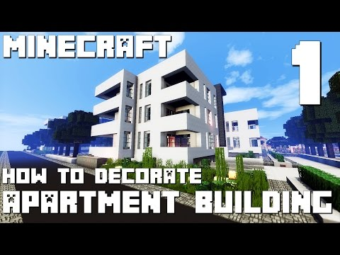 Minecraft Interior Design: Modern Apartment Building - Part 1