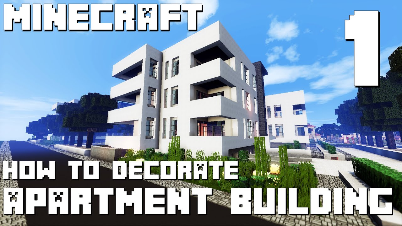 Minecraft Interior Design Modern Apartment Building Part 1 YouTube