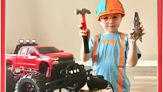 February 16, 2019 BLIPPI'S FAN PLAYING WITH MONSTER TRUCK|HE LOVES Videos About #BLIPPI'S TRUCKS!