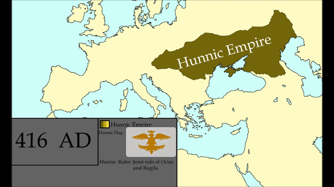 The Rise And Fall Of The Hunnic Empire Every Year