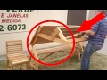 Foldable Woodworking Picnic Bench!