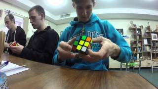 GoPro Rubik`s cube solving