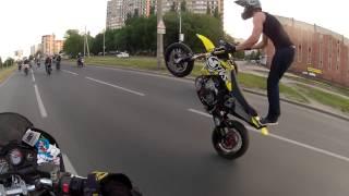 Стритуха с Clack Supermoto Crew/ Сумасшедшие на мотоциклах(https://www.periscope.tv/MotoBlogTV - Перископ http://vk.com/shamovartem - Я в VK http://vk.com/motoblogtv - Группа VK., 2014-06-28T07:30:35.000Z)