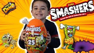 ZURU SMASHERS EPIC DINO EGG!! OVER 25 SURPRISES! DINO SERIES 3 || DINOSAUR EGG REVIEW || DJ_PLAY_DAY