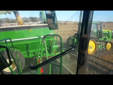 John Deere combine breakdown and harvest fun