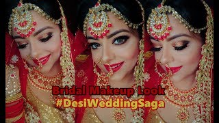 Indian Bridal Makeup | #DesiWeddingSaga | GIVEAWAY by Priaz Beauty Zone