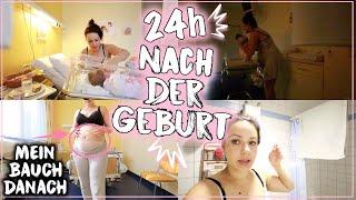 Babys ersten 24h des Lebens • Nach der Geburt & mein Bauch danach👶🏻🏥• Maria Castielle