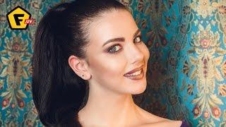 Макияж БОРДОВЫЙ С ЗОЛОТОМ ✓ Уроки макияжа пошагово