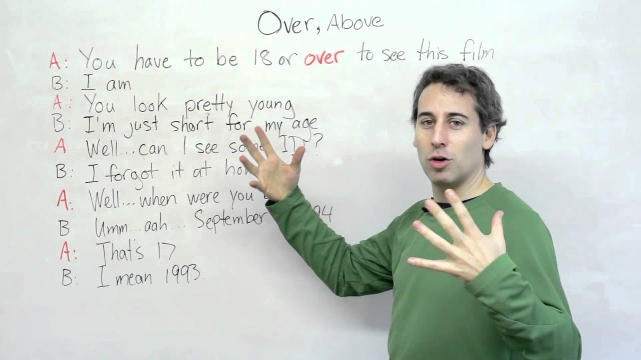 How to use the word OVER in English