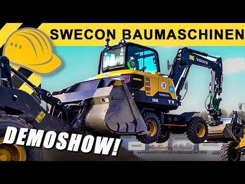 VOLVO Baumaschinen Neuheiten - Besuch bei Swecon & 'Volvo on Tour' - Neue VOLVO Radlader & Bagger