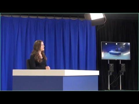university broadcast studio lighting equipment for student media center
