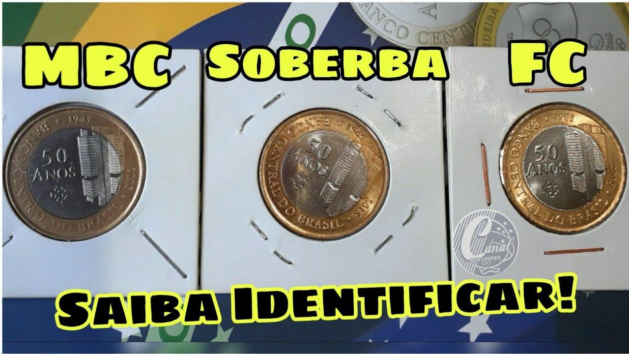 Saiba se sua moeda é MBC, SOBERBA ou FC - Veja como identificar #moedarara