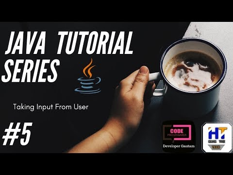 Java Programming Tutorial - 5 || How to Take Input From User || Java tutorial for beginners thumbnail