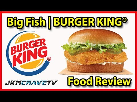 Burger King® | Big Fish Sandwich 🍔🐟👑 | Taste Test & Review | JKMCraveTV