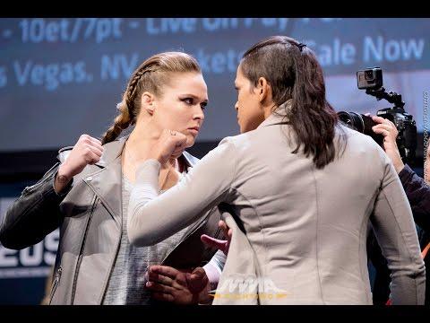 Ronda Rousey vs. Amanda Nunes UFC 207 Staredown Video
